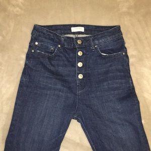 Zara high waist button fly jeans